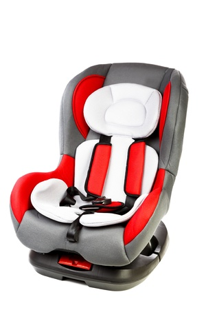Childrens automobile armchair isolated on a white background