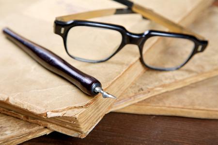 stilllife: Still-life with old writing-books a nib