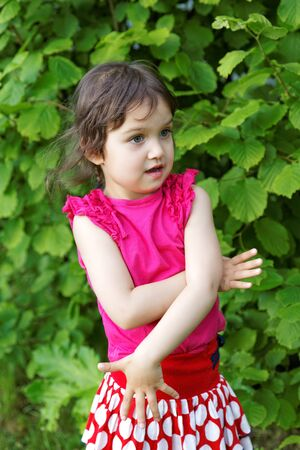 spurious: little girl expressed surprise at the park