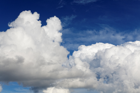 cumulus: high cumulus clouds on a blue sky