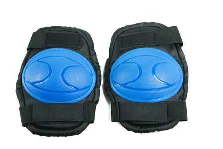 Knee pads and elbow pads isolated on white background 写真素材