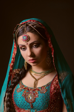 A beautiful Indian princess in national dress photo