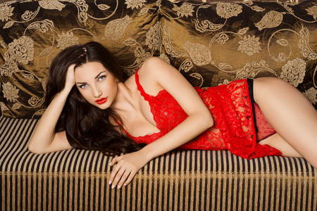 Photo of �beautiful woman in lingerie photo