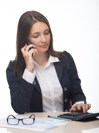 Businesswoman talking on the phone,operator photo
