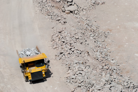 damage control: Heavy building bulldozer quarry,car Stock Photo