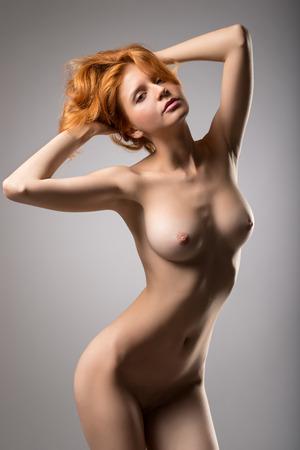 Beautiful girl posing naked Stock Photo