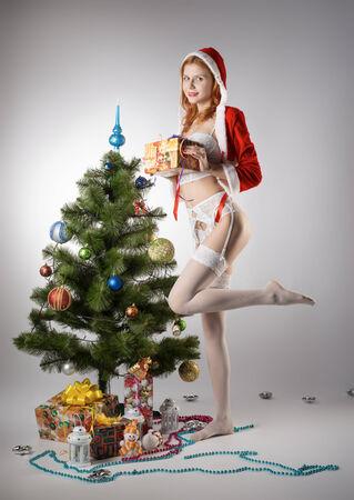 Girl in suit Snow Maiden Stock Photo