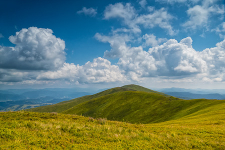sky cloud: Landscape with clouds in the mountains Stock Photo