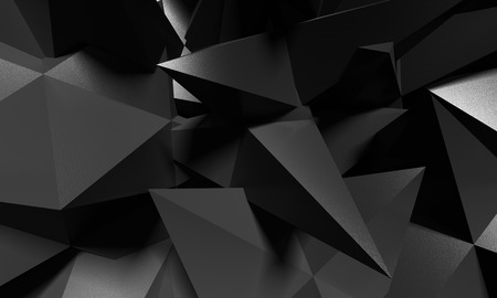 crystal background: Abstract background black crystal