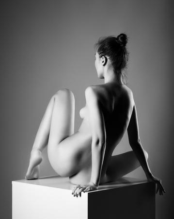 sexy nude women: Beautiful girl posing naked Stock Photo