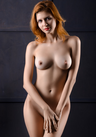 sexy woman nude: Beautiful girl posing nede,naked Stock Photo
