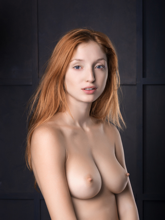 glamour nude: Young girl posing naked,nude  in studio