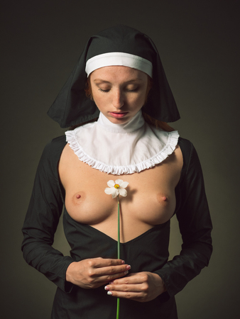 Hardcore beautiful naked nun
