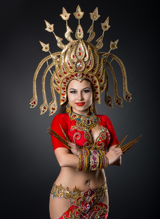 National dance of Thailand, girl dancing Stok Fotoğraf