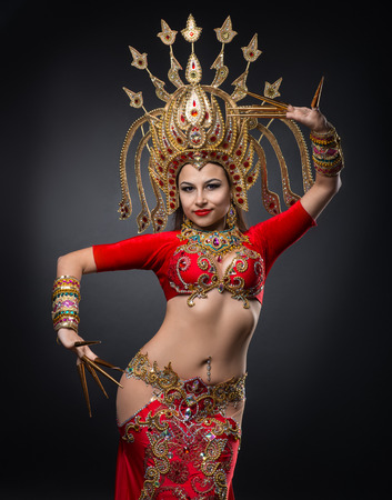 Ethnic dances of Thailand, girl dancing