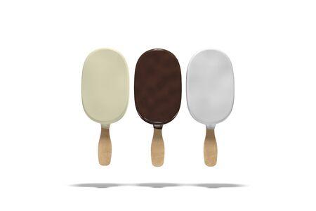 Multi-colored types of ice cream. 3d illustration