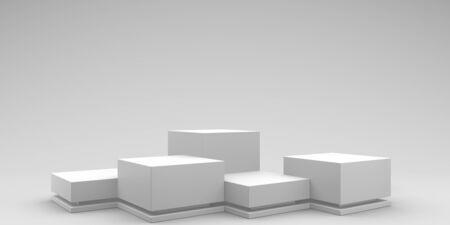 Empty podium or pedestal display on white