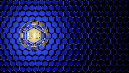 5g technology wireless and internet communication of the future. high-speed mobile Internet, new generation networks. 3d illustration