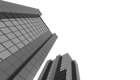 3D render huge skyscraper, office building business center or bank Reklamní fotografie