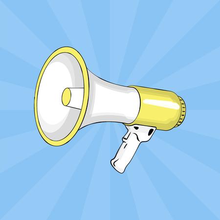 loudspeaker: Loudspeaker. Pop art. Vector Illustration