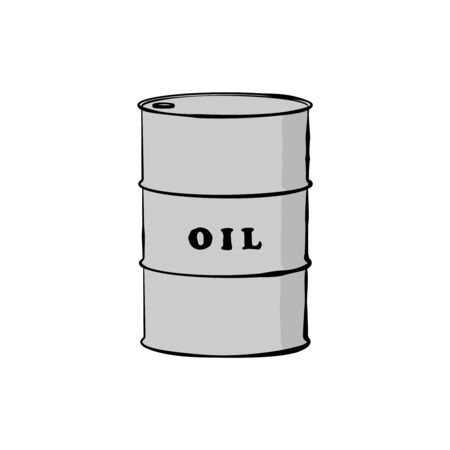 natural gas prices: Barrel of oil. Vector Illustration