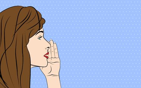 gossiping: Gossiping women. Vector illustration pop art style