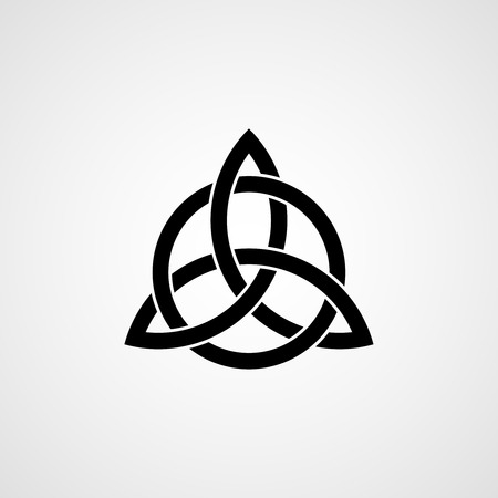 black and white celtic: Celtic trinity knot.
