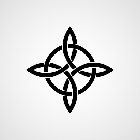 irish history: Celtic four-cornered knot. Quaternary knot.