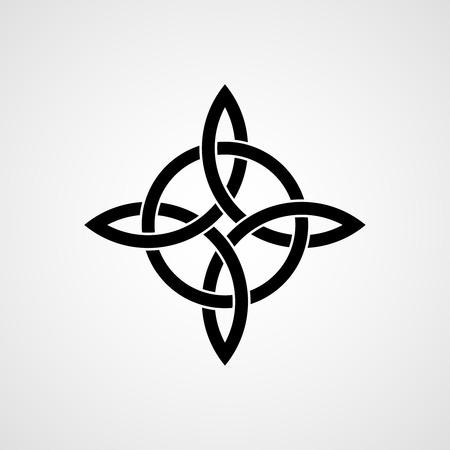 Celtic vierhoekige knoop. Kwartair knoop.