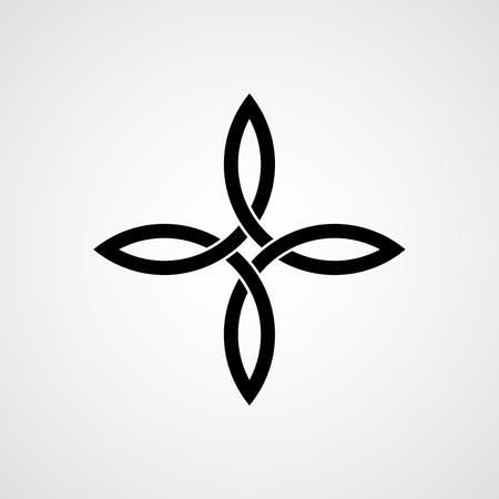 Noeud celtique à quatre coins. noeud Quaternaire