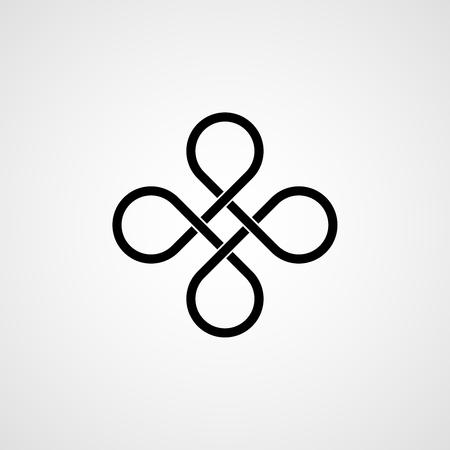 Celtic knot. illustration Illustration