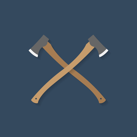 the ax: Two ax. Vector illustration