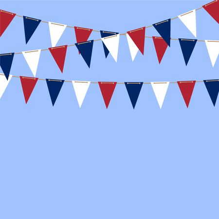 fourth birthday: Bunting Flags vector background