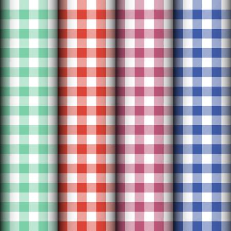 tablecloth: Checkered tablecloth texture. Vector
