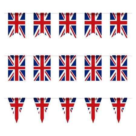 United Kindom flag bunting. Vector