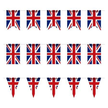 queens jubilee: United Kindom flag bunting. Vector