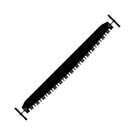 crosscut: Cross cut saw. Vector illustration