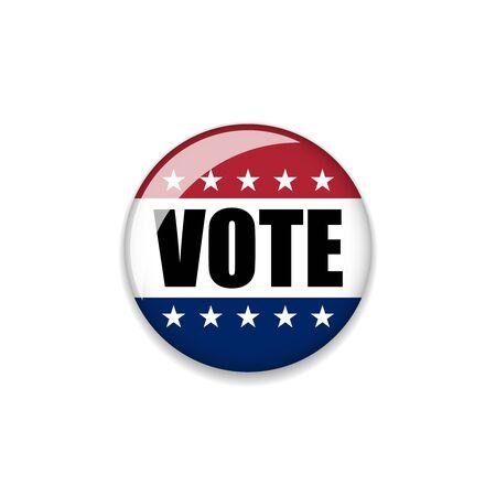 voted: Badge Vote 2016. Vector Illustration