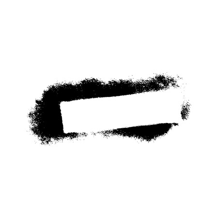 blots: White empty square frame with black paint blots