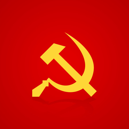sickle: Hammer and sickle symbol USSR. Vector illustration Illustration