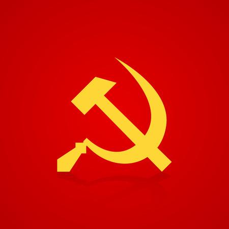 Hammer and sickle symbol USSR. Vector illustration Illustration