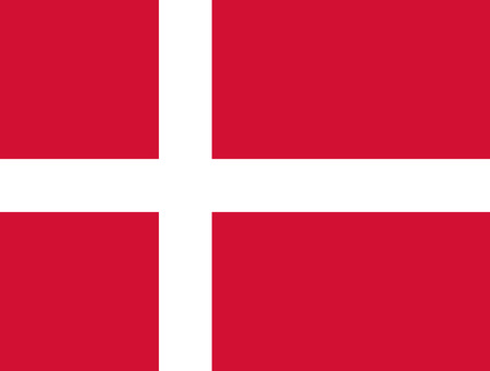 proportions: Flag Denmark. The correct proportions and color. Vector image
