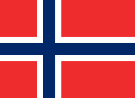 norwegian flag: Norwegian flag. The correct proportions and color. Vector image