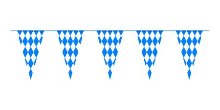 festoon: Bavarian bunting festoon from Germany with diamond pattern
