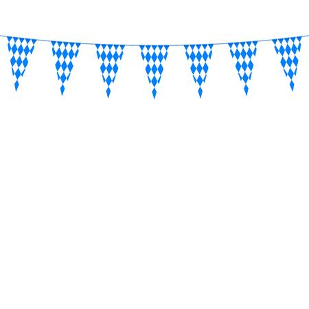 festoon: Oktoberfest bunting festoon. Vector Illustration