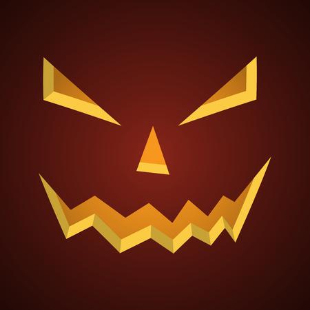 Halloween background - old jack-o-lantern