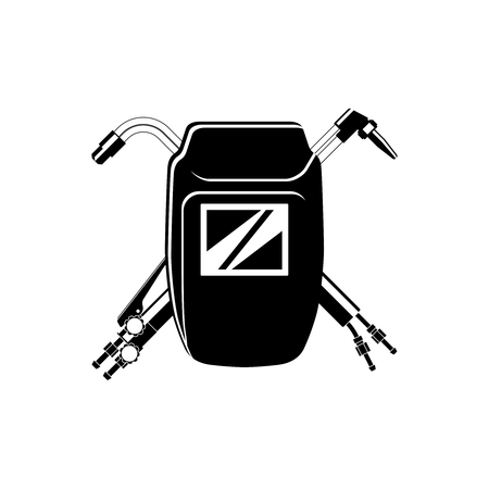 Welding icon for your company. Welding mask and cutting torches