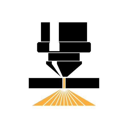 Lasersnijden pictogram. Vector Illustratie