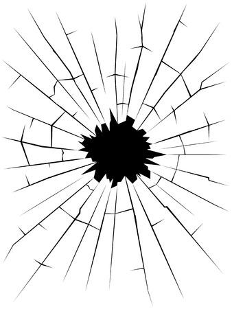 cracked glass: Broken glass. Cracks. Vector Illustration