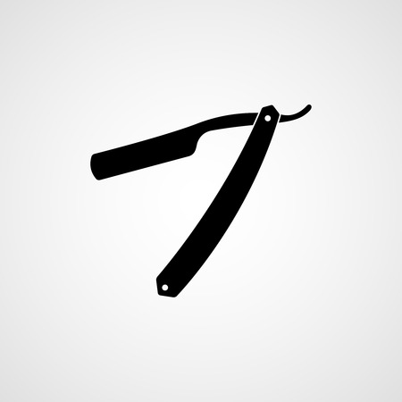 Straight razor. Vector icon  イラスト・ベクター素材